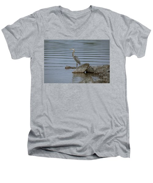 Men's V-Neck T-Shirt featuring the photograph Watchful by Eunice Gibb