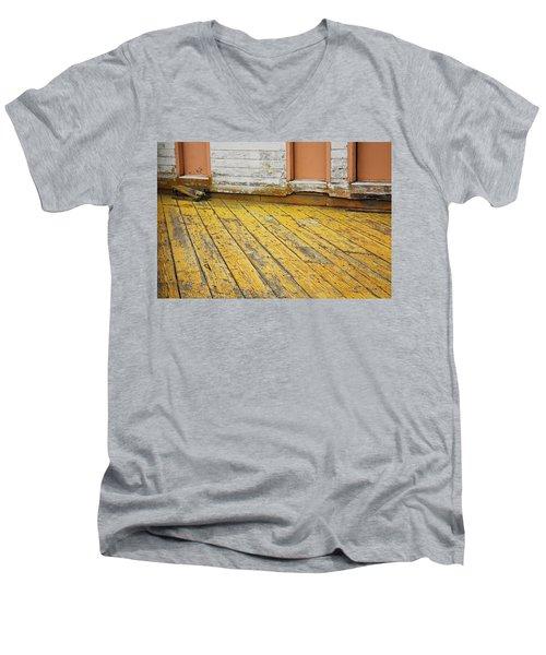 Weathered Monterey Building Men's V-Neck T-Shirt