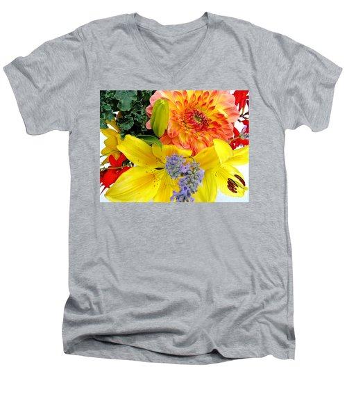 Wedding Flowers Men's V-Neck T-Shirt by Rory Sagner