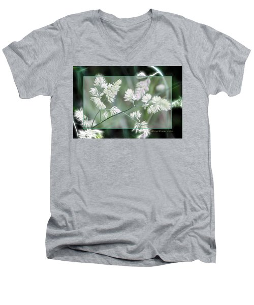 Men's V-Neck T-Shirt featuring the photograph Weeds by EricaMaxine  Price