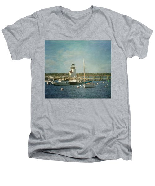 Welcome To Nantucket Men's V-Neck T-Shirt