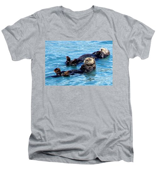Men's V-Neck T-Shirt featuring the photograph Whatchu Looking At by Kathy  White