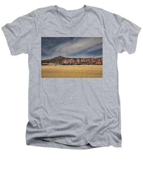 Men's V-Neck T-Shirt featuring the photograph Wheatfield Zion National Park by Hugh Smith