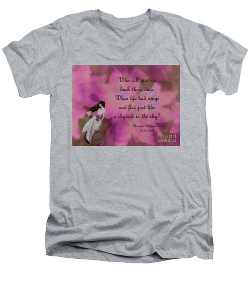 When Life Had Wings Men's V-Neck T-Shirt