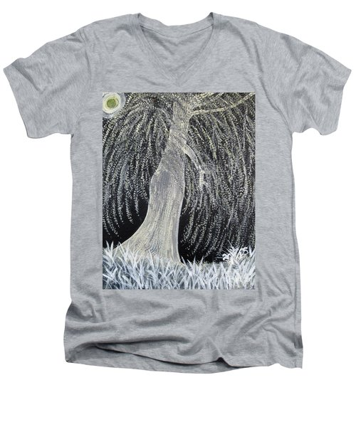 When Willows Weep Men's V-Neck T-Shirt