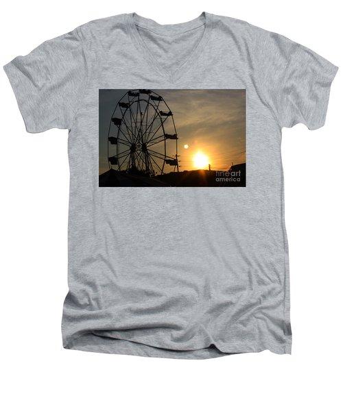 Where Has Summer Gone Men's V-Neck T-Shirt by Tony Cooper