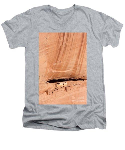 White House Ruins Men's V-Neck T-Shirt by Mike  Dawson