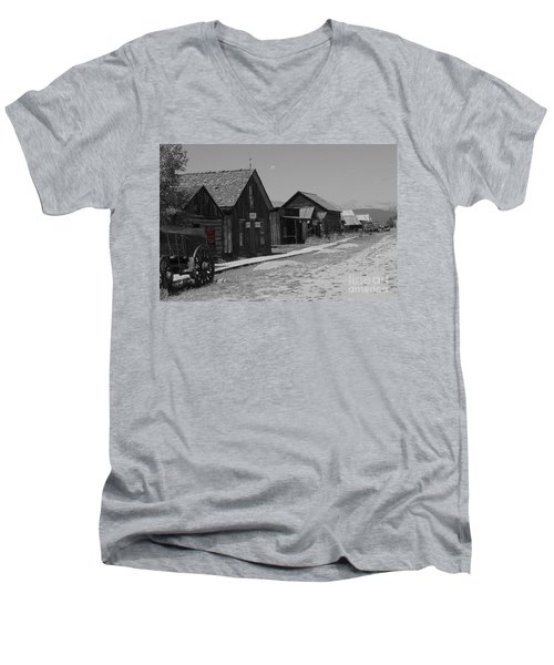 Men's V-Neck T-Shirt featuring the photograph Wild Wild West by Deniece Platt
