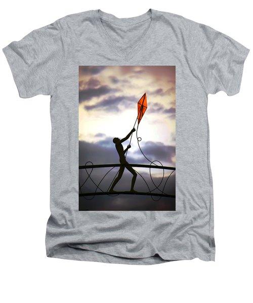 Winchester Kite Men's V-Neck T-Shirt