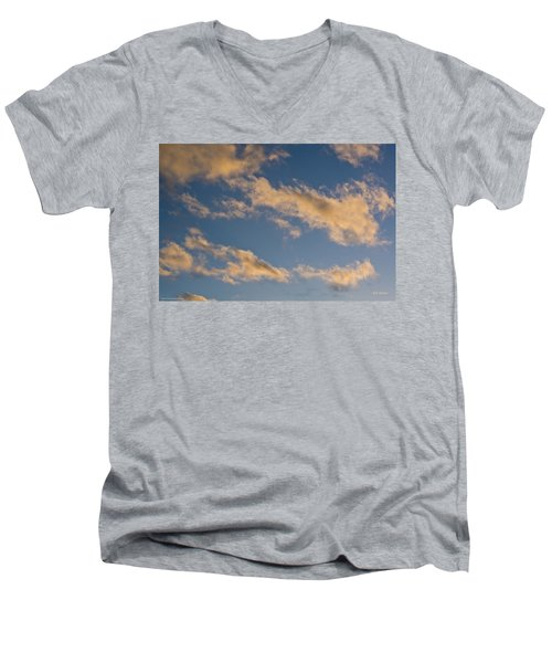 Men's V-Neck T-Shirt featuring the photograph Wind Driven Clouds by Mick Anderson