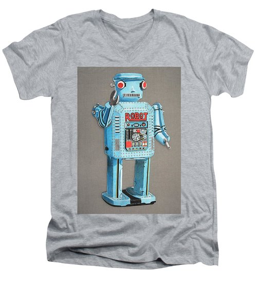 Wind-up Robot 2 Men's V-Neck T-Shirt