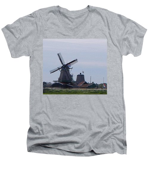 Windmill Men's V-Neck T-Shirt