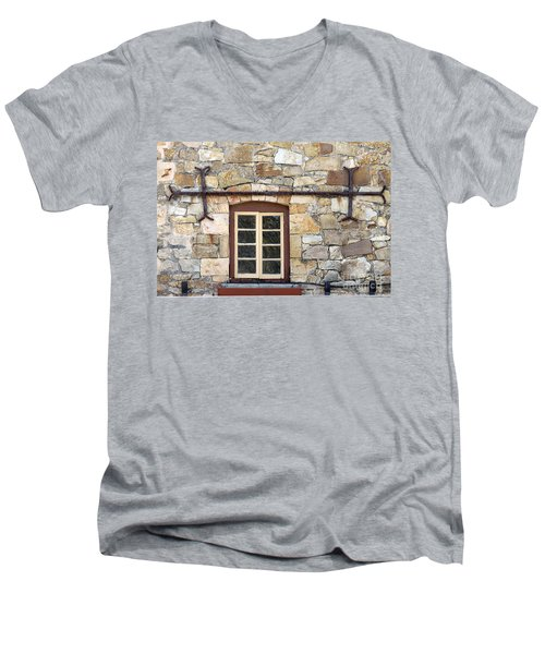 Window Into The Past Men's V-Neck T-Shirt