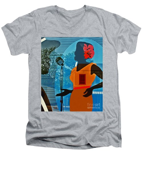 Men's V-Neck T-Shirt featuring the photograph Window To My Soul by Barbara McMahon