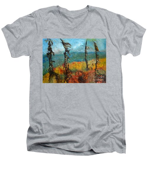 Windswept Pines Men's V-Neck T-Shirt