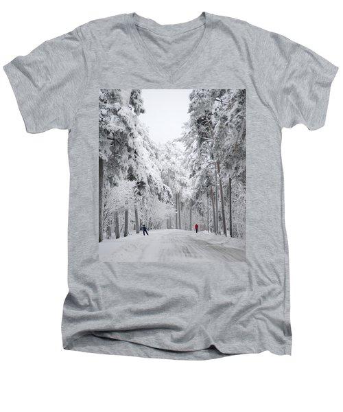 Winter Activities Men's V-Neck T-Shirt