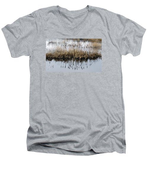 Men's V-Neck T-Shirt featuring the photograph Winter Bouquet by I'ina Van Lawick