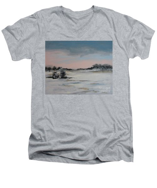Winter Landscape Men's V-Neck T-Shirt