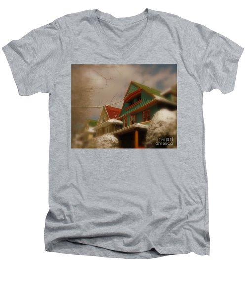 Winter On Rugby Road Men's V-Neck T-Shirt