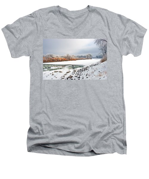 Winter Red River 2012 Men's V-Neck T-Shirt