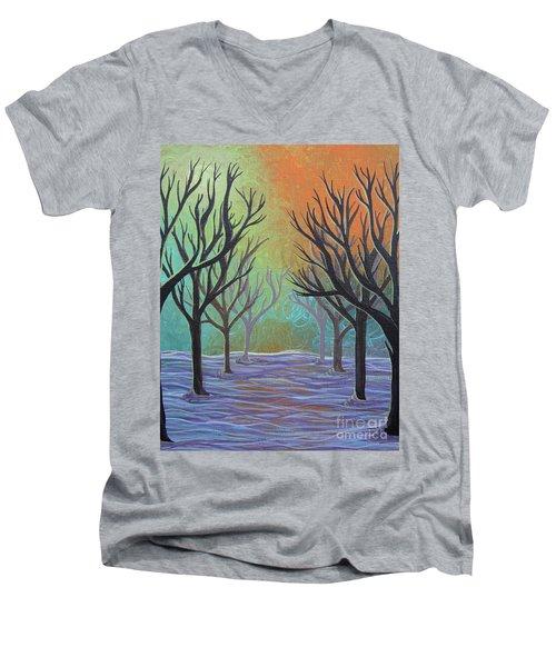 Winter Solitude 11 Men's V-Neck T-Shirt