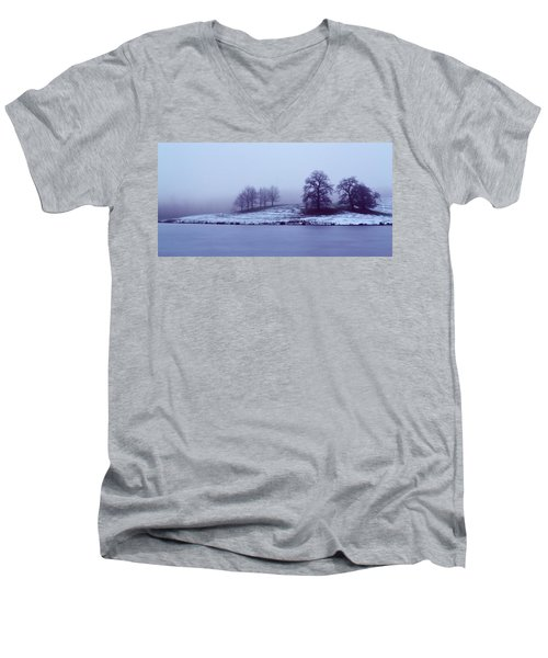 Winter Trees Men's V-Neck T-Shirt