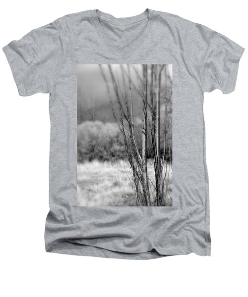 Men's V-Neck T-Shirt featuring the photograph Winters Branch by Kathleen Grace