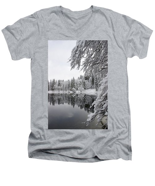 Wintery Reflections Men's V-Neck T-Shirt