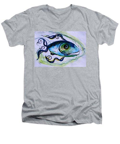 Wtfish 009 Men's V-Neck T-Shirt