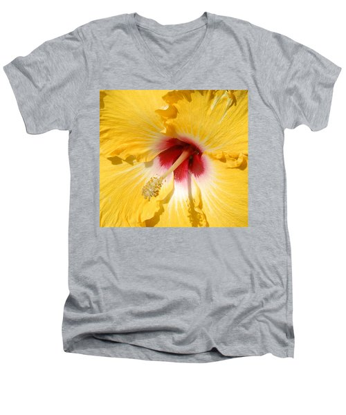 Yellow Fellow Men's V-Neck T-Shirt by Cindy Manero