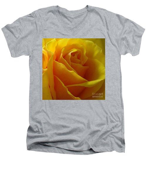 Men's V-Neck T-Shirt featuring the photograph Yellow Rose Of Texas by Sandra Phryce-Jones