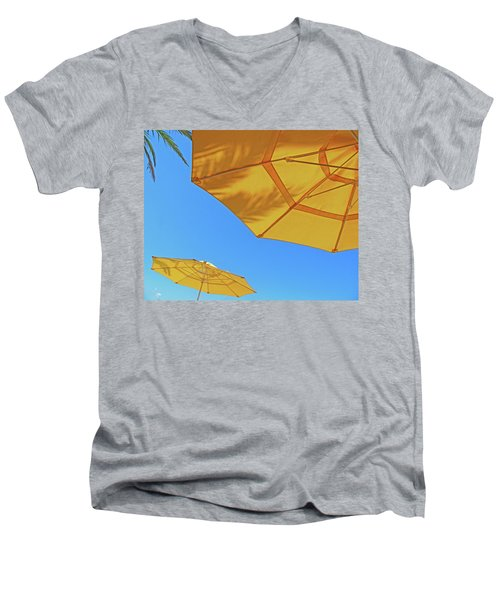 Men's V-Neck T-Shirt featuring the photograph Yellow Time  by Lizi Beard-Ward