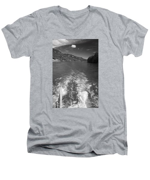 A Wake, River And Sky Men's V-Neck T-Shirt