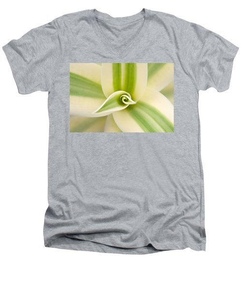 Men's V-Neck T-Shirt featuring the photograph   Agave 3 by Catherine Lau
