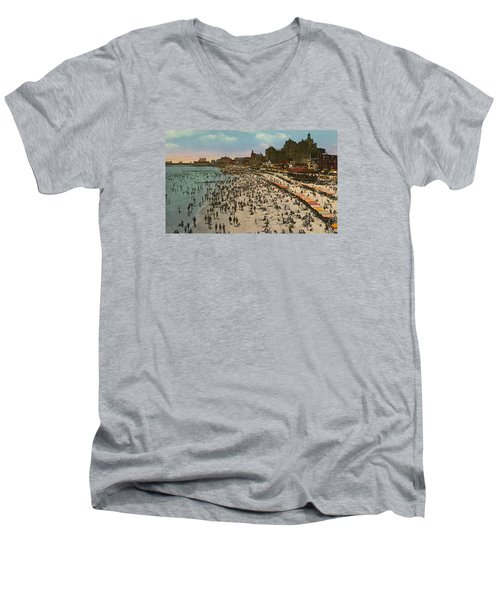Atlantic City Spectacle Men's V-Neck T-Shirt by Unknown