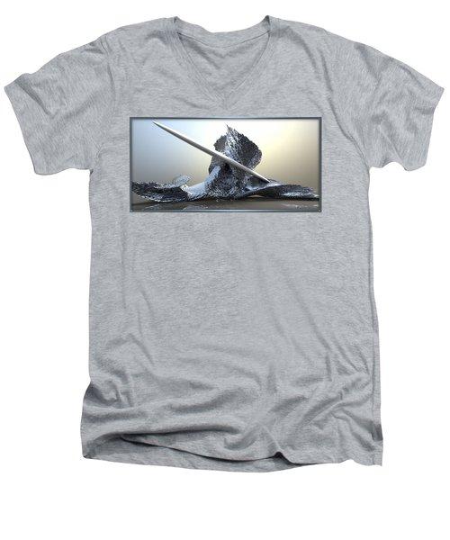 ' Big Blue Wipeout ' Men's V-Neck T-Shirt