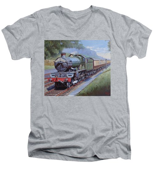 Castle Class In Sonning Cutting Men's V-Neck T-Shirt by Mike  Jeffries