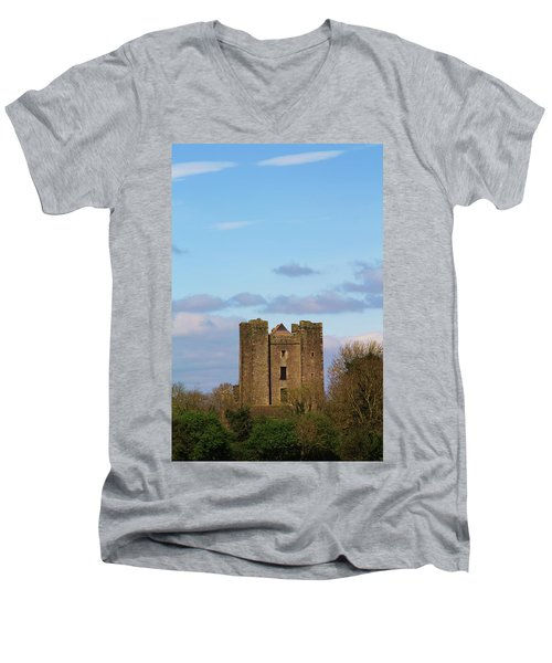 Dunsoghly Castle Men's V-Neck T-Shirt by Martina Fagan