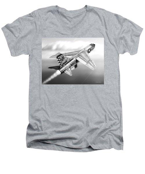 F-8e Crusader Drawing Men's V-Neck T-Shirt