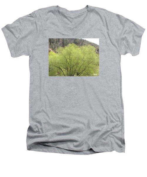 Tree Ute Pass Hwy 24 Cos Co Men's V-Neck T-Shirt