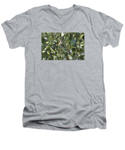 Flight Of The Hummingbird Men's V-Neck T-Shirt by Debra     Vatalaro