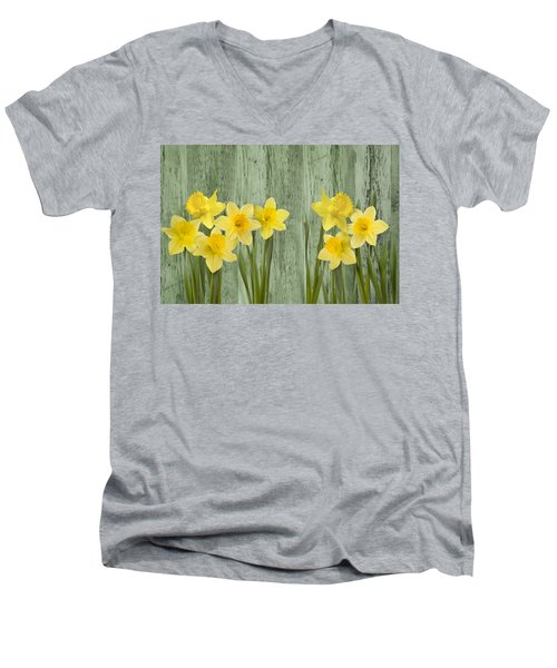 Fresh Spring Daffodils Men's V-Neck T-Shirt