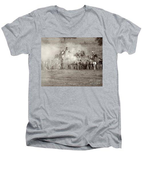 Gettysburg Confederate Infantry 7503s Men's V-Neck T-Shirt