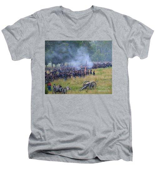 Gettysburg Union Artillery And Infantry 8456c Men's V-Neck T-Shirt
