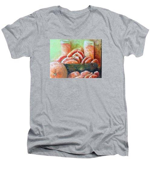 Mandarin Oranges  Men's V-Neck T-Shirt