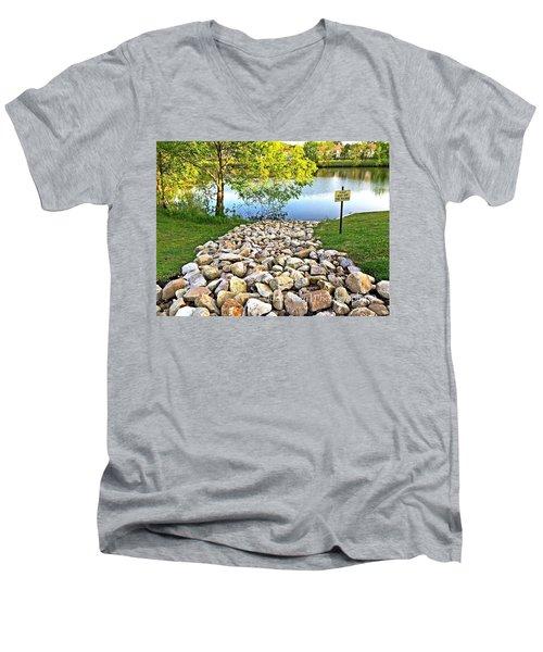 Keep Off The Rocks - No.430 Men's V-Neck T-Shirt