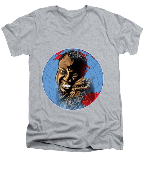 Men's V-Neck T-Shirt featuring the painting  Louis. by Andrzej Szczerski