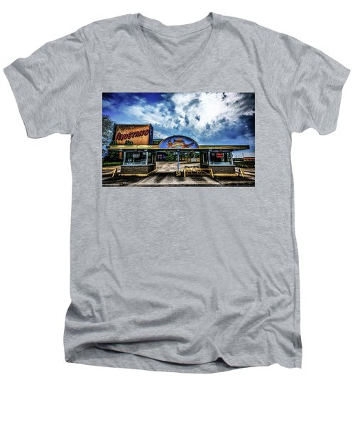 Mustang Drive In Men's V-Neck T-Shirt