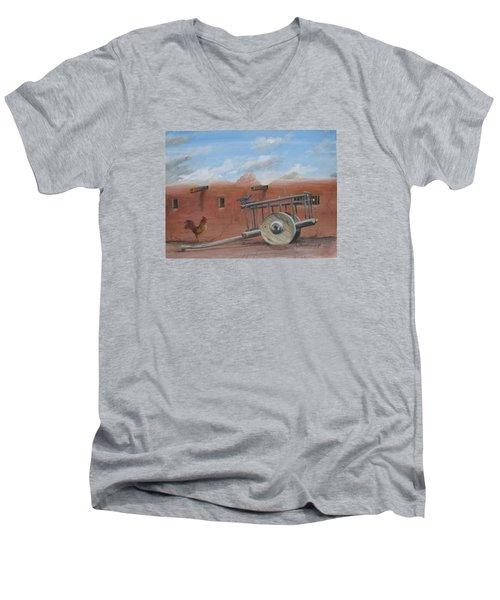 Old Spanish Cart  Men's V-Neck T-Shirt by Oz Freedgood