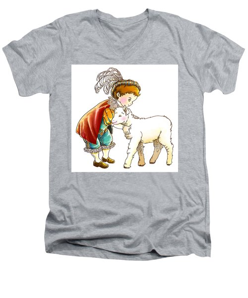 Prince Richard And His New Friend Men's V-Neck T-Shirt by Reynold Jay